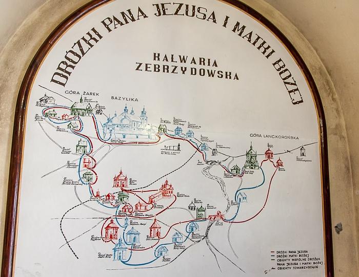 Kalwaria Zebrzydowska Franziskanerkloster: Wege durch den Kalwaria-Zebrzydowska-Park (Kalvarienberg)