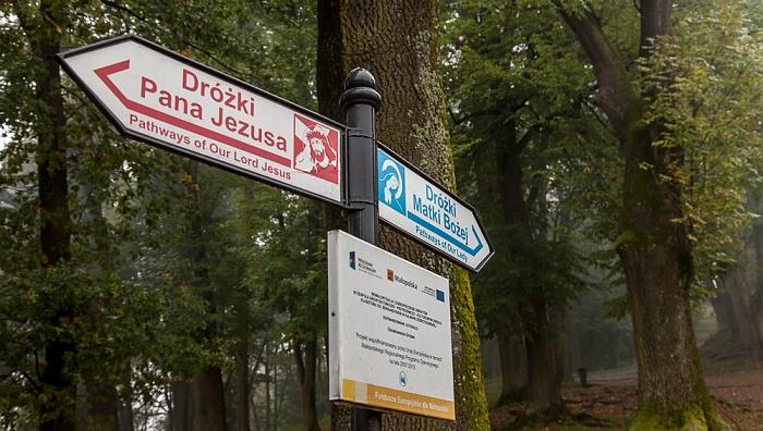 Kalwaria Zebrzydowska Franziskanerkloster: Wegweiser durch den Kalwaria-Zebrzydowska-Park (Kalvarienberg)