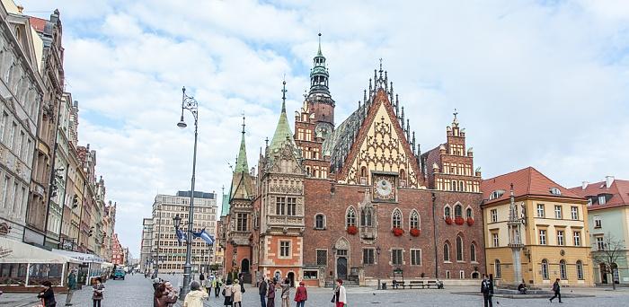 Stare Miasto: Großer Ring (Rynek) - Innerer Ringblock mit Breslauer Rathaus