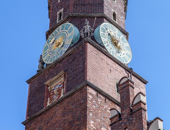 Stare Miasto: Großer Ring (Rynek) - Turm des Breslauer Rathauses