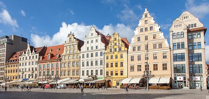 Breslau Stare Miasto: Großer Ring (Rynek) - Westseite