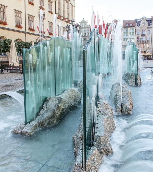 Breslau Stare Miasto: Großer Ring (Rynek) - Gläserner Brunnen