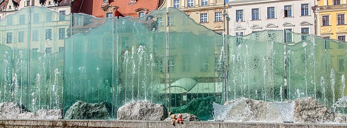 Breslau Stare Miasto: Großer Ring (Rynek) - Gläserner Brunnen: Teddy und Teddine