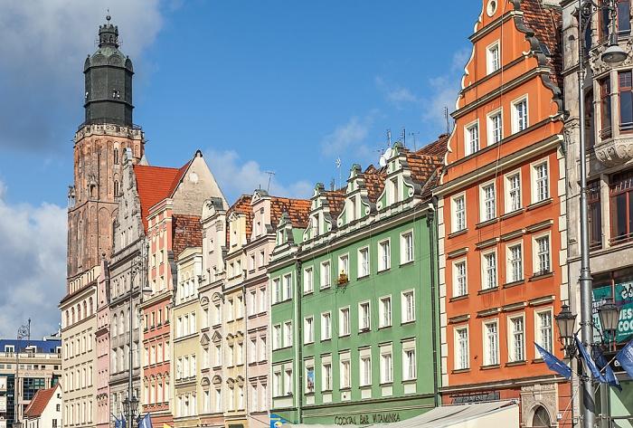 Breslau Stare Miasto: Großer Ring (Rynek) Elisabethkirche