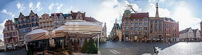 Breslau Stare Miasto: Großer Ring (Rynek) - Ostseite (Grüne-Röhr-Seite) Louis Lewy Warenhaus Gebrüder Barasch