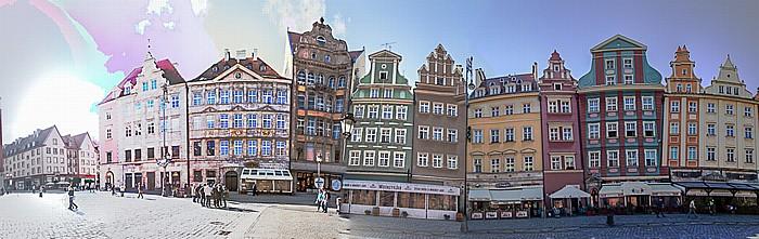 Breslau Stare Miasto: Großer Ring (Rynek) - Südseite (Goldene-Becher-Seite) (östlicher Teil)