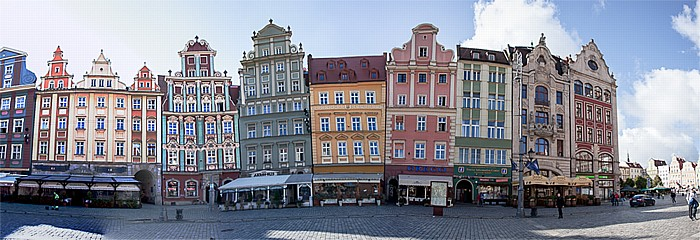 Breslau Stare Miasto: Großer Ring (Rynek) - Südseite (Goldene-Becher-Seite) (westlicher Teil) Breslauer Salzmarkt Unterm Engel
