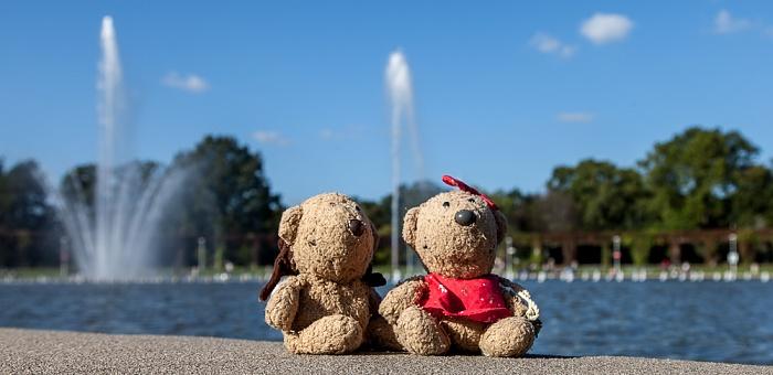 Breslau Scheitniger Park (Park Szczytnicki): Wroclaw Multimedia-Brunnen - Teddy und Teddine