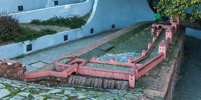 Breslau Stadtgraben: Modell der Stadtmauer