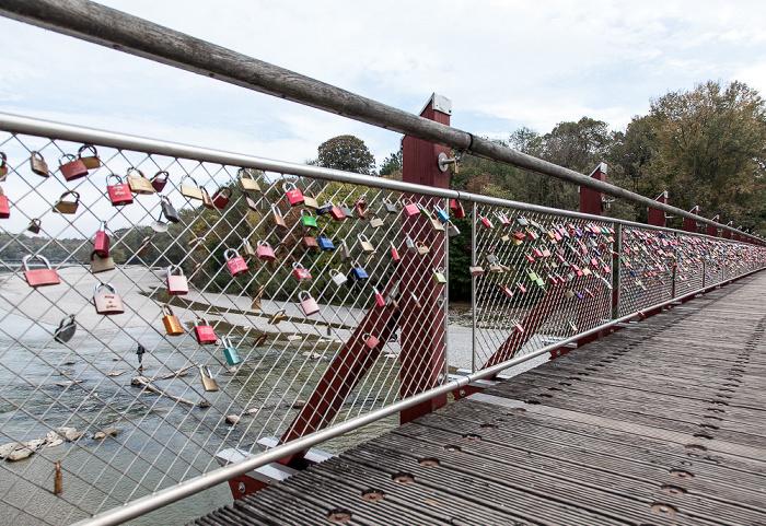 Thalkirchner Brücke: Liebesschlösser München