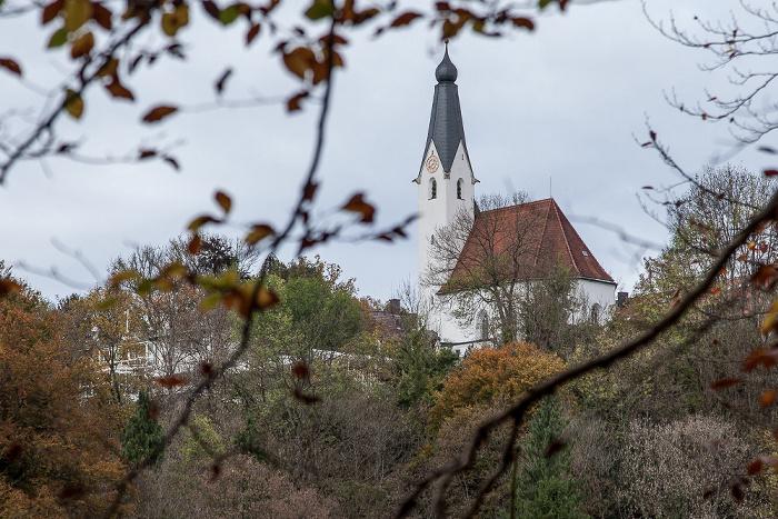 Pullach im Isartal Isartal, Isarhochufer mit Heilig-Geist-Kirche