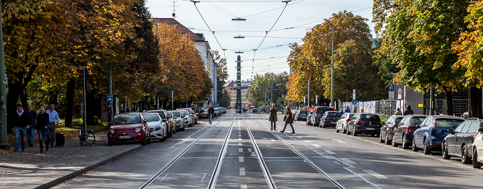 Kunstareal München (Maxvorstadt): Barer Straße Karolinenplatz Obelisk