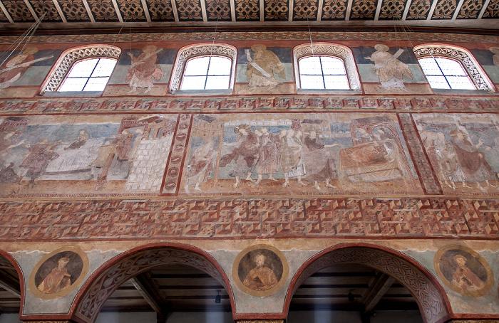 Reichenau Oberzell: Basilika St. Georg - Langhaus Südseite