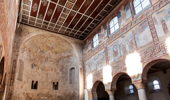 Reichenau Oberzell: Basilika St. Georg - Westapsis und Langhaus Norseite