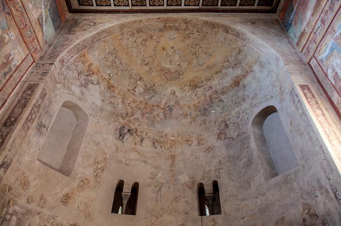 Reichenau Oberzell: Basilika St. Georg - Westapsis mit der Darstellung des Jüngsten Gerichts