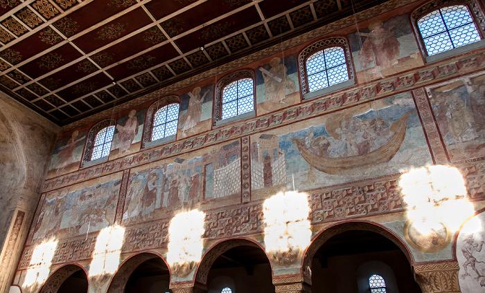 Reichenau Oberzell: Basilika St. Georg - Langhaus Nordseite