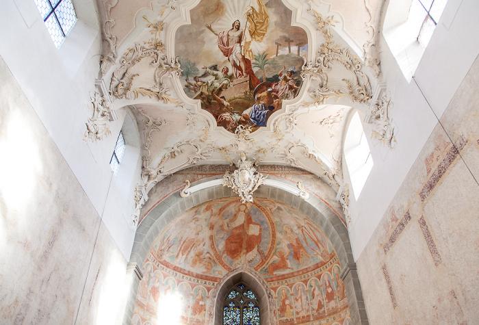 Reichenau Niederzell: Basilika St. Peter und Paul - Langhaus und Ostapsis