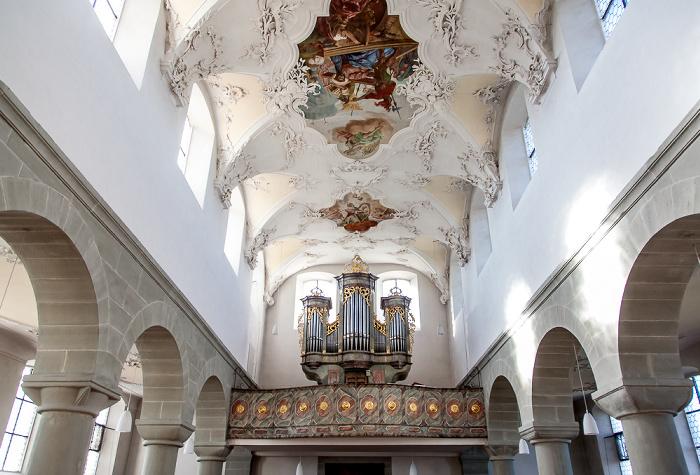 Reichenau Niederzell: Basilika St. Peter und Paul - Langhaus und Orgel