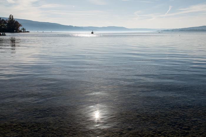 Reichenau Untersee (Bodensee) mit Rheinsee (links) und Zeller See