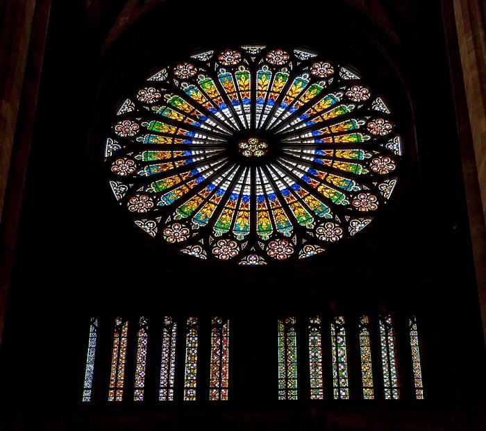 Straßburger Münster (Cathédrale Notre-Dame de Strasbourg): Rosette an der Westfront