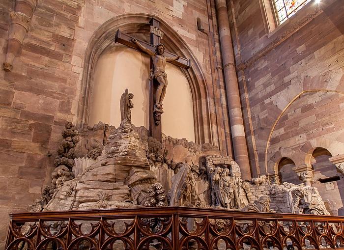 Straßburger Münster (Cathédrale Notre-Dame de Strasbourg): Christus am Ölberg