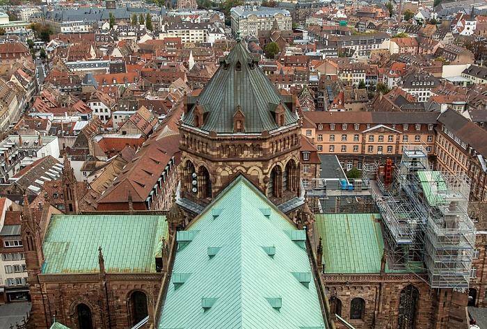 Blick von der Turmplattform des Straßburger Münsters (Cathédrale Notre-Dame de Strasbourg): Grande Île Grand Séminaire de Strasbourg Lycée Fustel-de-Coulanges