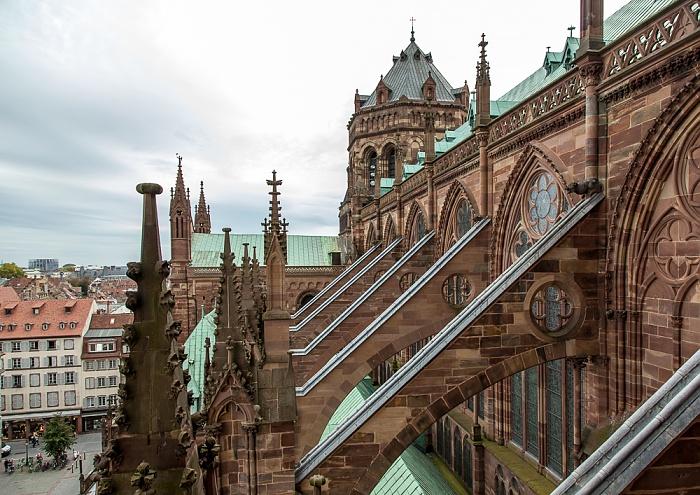 Straßburger Münster (Cathédrale Notre-Dame de Strasbourg): Langhaus, Querhaus und Vierungsturm