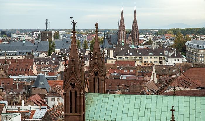 Blick vom Straßburger Münster (Cathédrale Notre-Dame de Strasbourg): Grande Île Église Saint-Paul