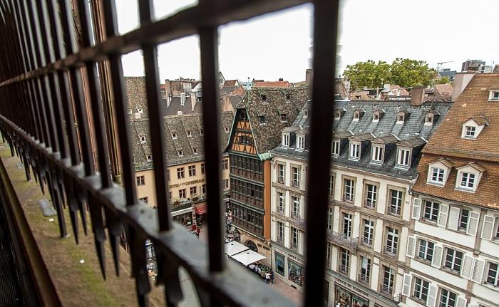 Blick vom Straßburger Münster (Cathédrale Notre-Dame de Strasbourg): Grande Île Maison Kammerzell Place de la Cathédrale