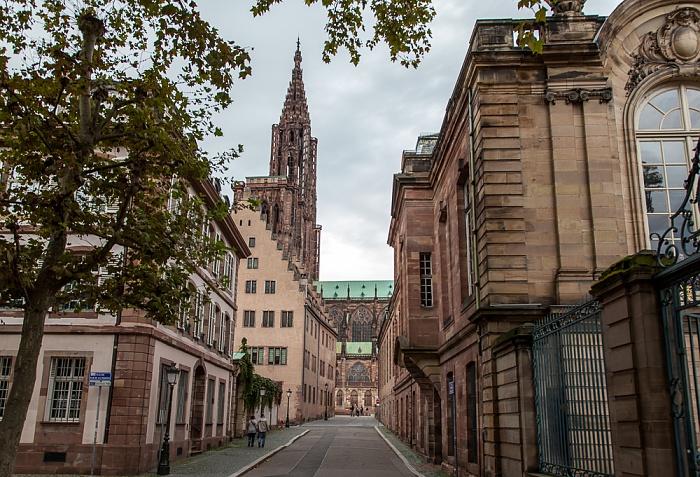 Straßburg Grande Île: Rue de Rohan Palais Rohan Straßburger Münster