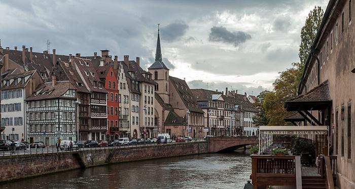 Straßburg Quartier de la Bourse (links) / Quartier du Finkwiller: Quai Saint-Nicolas Ancienne Douane Église Saint-Nicolas Grande Île Ill