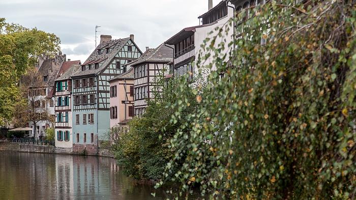 Straßburg Blick von der Rue des Moulins: Ill, Petite France