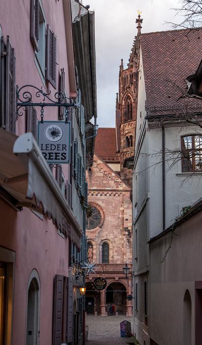 Freiburg Altstadt: Buttergasse Freiburger Münster