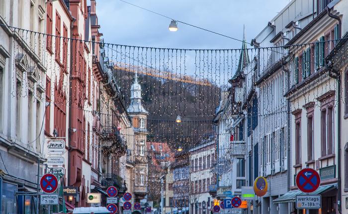 Freiburg Altstadt: Gerberau - Weihnachtsbeleuchtung