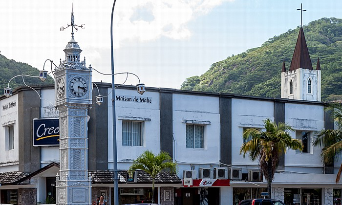 Victoria (Seychellen) Albert Street / Independence Avenue: Clock Tower St Pauls Cathedral