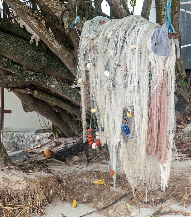 Beau Vallon Beach: Fischernetz
