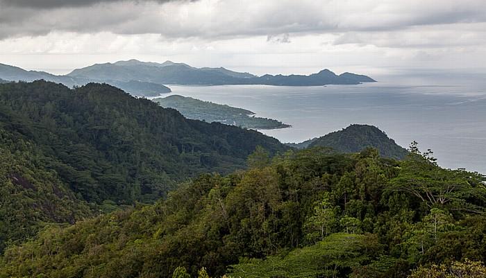 Mahé Morne Seychellois National Park: Mission Lodge - Blick auf die Westküste und den Indischen Ozean