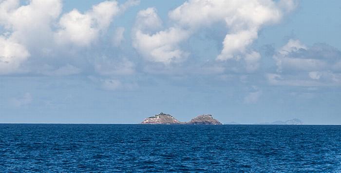 Indischer Ozean Fähre Victoria (Mahé) - Baie Sainte Anne (Praslin)