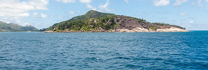 Indischer Ozean Fähre Baie Sainte Anne (Praslin) - La Passe (La Digue): Île Ronde Round Island