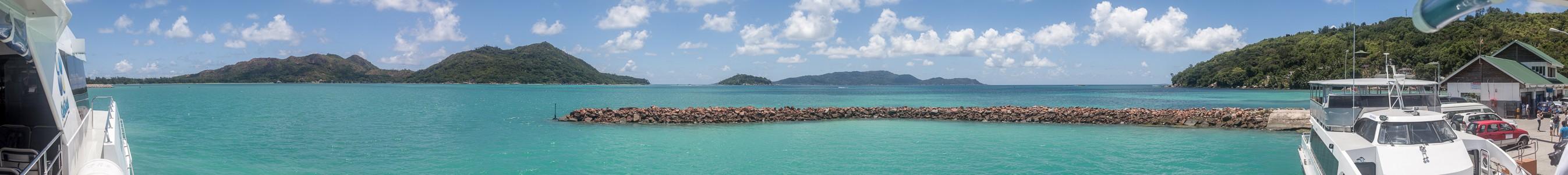 Indischer Ozean: Fähre Victoria (Mahé) - Baie Sainte Anne (Praslin) Jetty