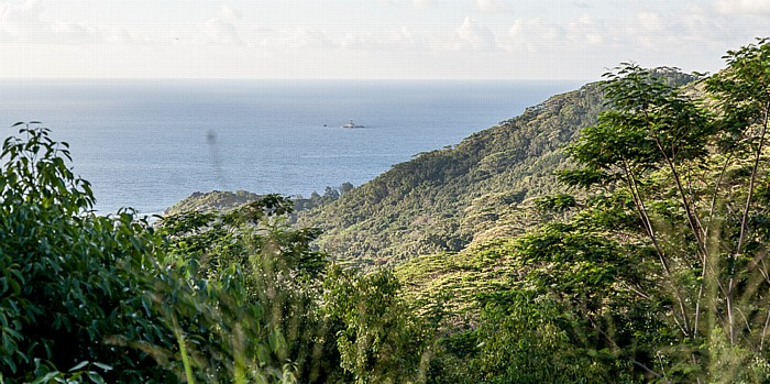 La Digue Blick von Belle Vue: Indischer Ozean