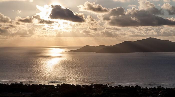 La Digue Blick von Belle Vue: Indischer Ozean und Praslin