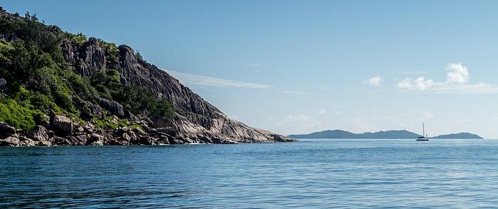 Indischer Ozean Baie Sainte Anne La Digue Round Island