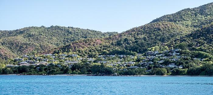 Indischer Ozean Praslin: Baie Pasquiere, Anse Boudin, Raffles Praslin Seychelles