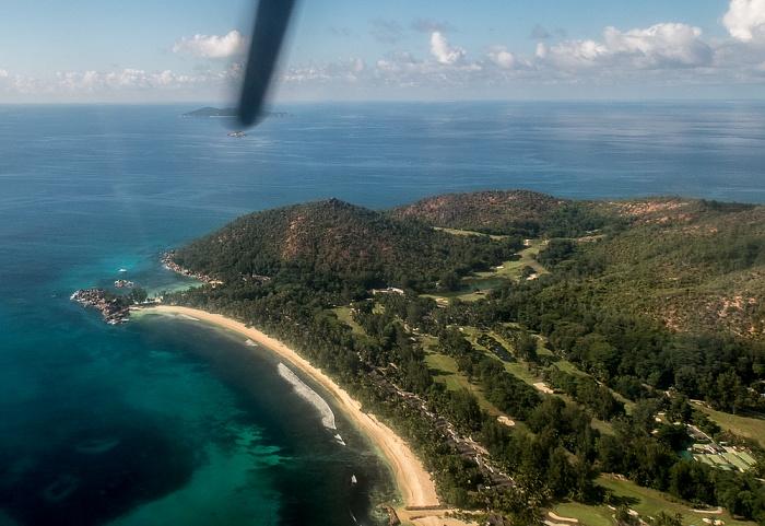 Praslin Indischer Ozean Anse Kerlan Lemuria Resort Of Praslin Petite Anse Kerlan Pointe Millers Pointe Ste Marie Luftbild aerial photo