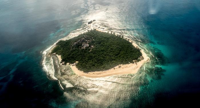 Indischer Ozean Insel Cousin Luftbild aerial photo