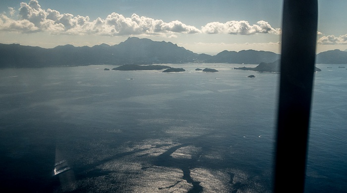 Indischer Ozean Mahé und Ste Anne Marine National Park Luftbild aerial photo