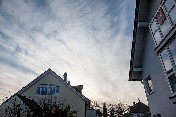 München Blick auf den Himmel am Tag der (partiellen) Sonnenfinsternis 2015 (1 Stunden vor Beginn)