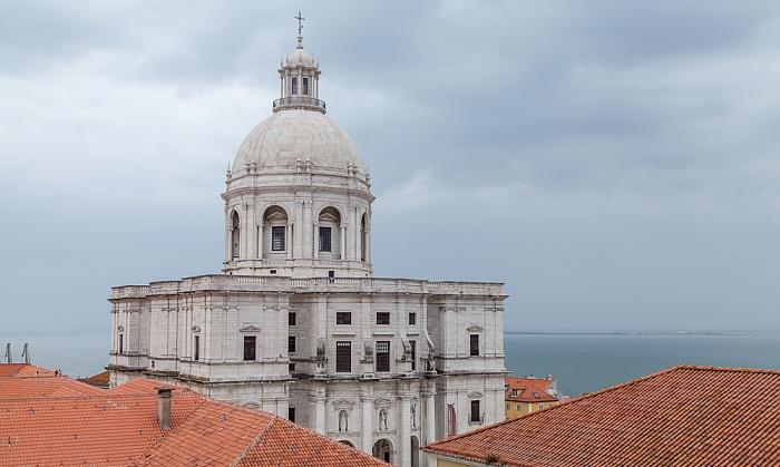 Lissabon Alfama: Panteão Nacional (Igreja de Santa Engrácia) Tejo