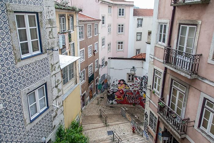 Lissabon Alfama: Escadinhas de São Cristóvão